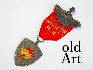 1900年代初頭アンティークフリーメイソンテンプル騎士団勲章バッジ 【M-11771】