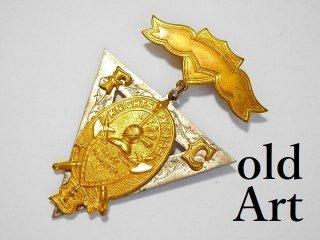 アンティークピシアス騎士会スカルFCB勲章バッジ徽章【M-11769】
