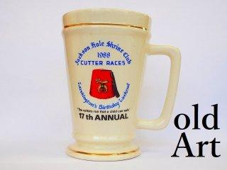USA製1988年代ヴィンテージフリーメイソンシュライナー陶器製ジョッキマグカップ【M-11899】
