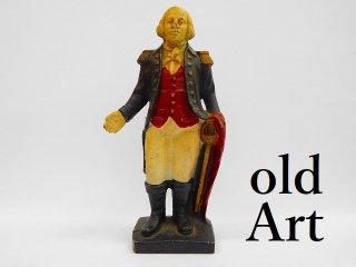 ヴィンテージアメリカ初代大統領ジョージ・ワシントン貯金箱コインバンク置物オブジェ【M-11920】