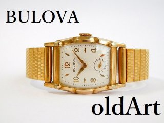 ヴィンテージBULOVAブローバ金張り手巻き式メンズ腕時計15石【M-11869】