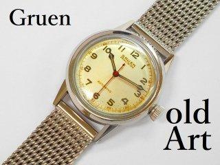ヴィンテージGRUENグリュエンPRECISION自動巻きメンズ腕時計【M-11942】