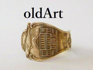 アンティークBOSTONFISHシルバー銀製スプーンリング指輪10号【M-11945】