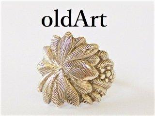 アンティーク1900年代初頭ヤシの木シルバー銀製メンズスプーンリング指輪20号【M-11951】
