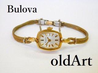 ビンテージ1940-50年代ブローバBulova手巻き式レディース腕時計ドレスウォッチアンティーク【M-11986】