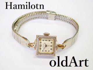 ビンテージ1940-60年代Hamiltonハミルトン手巻き式レディース腕時計ドレスウォッチアンティーク【M-11989】