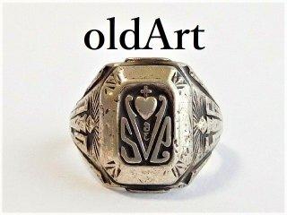 1956年代ビンテージBALFOUR社製STERLINGシルバー製カレッジリング指輪13号【M-12023】