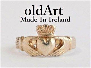 アイルランド製伝統的な指輪クラダリングスターリングシルバー製19号ホールマーク刻印【M-12020】
