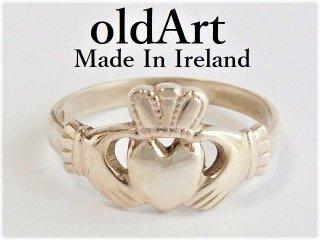 アイルランド製伝統的な指輪クラダリングスターリングシルバー製15.5号ホールマーク刻印【M-12021】