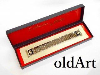 デッドストック1950年代ビンテージフリーメイソンシュラインUSA製FOSTER社ステンレス腕時計蛇腹ベルト18mm【M-12064】