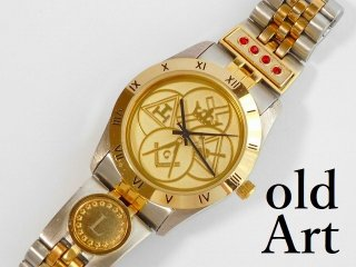 フリーメイソンヨークライト会員限定クォーツ式オフィシャル腕時計メンズウォッチ【M-12098】