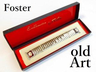 デッドストック1950年代ビンテージフリーメイソンシュラインUSA製FOSTER社ステンレス腕時計蛇腹ベルト18mm【M-12108】