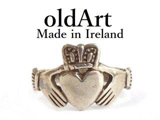 アイルランド製伝統的クラダリングスターリングシルバー製メンズ指輪18.5号【M-11864】