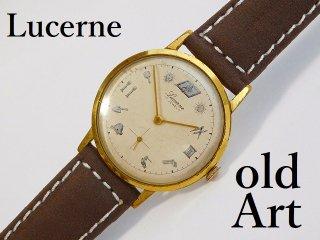 ヴィンテージフリーメイソンスイス製Lucernルツェルン手巻き式メンズ腕時計【M-12114】