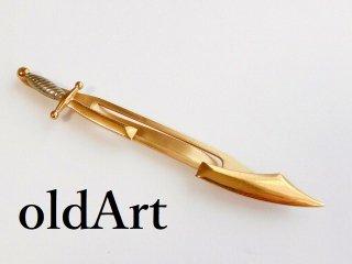 ヴィンテージSWANK社製フリーメイソン剣ソード型ゴールドタイピンタイクリップ【M-12134】