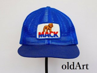 USA製80'sビンテージMACKTRUCKマックトラックブルドッグオフィシャル刺繍ワッペンメンズメッシュキャップ帽子【M-12164】