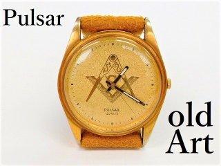 フリーメイソンPULSARパルサーSEIKOセイコークォーツ式メンズ腕時計【M-12196】