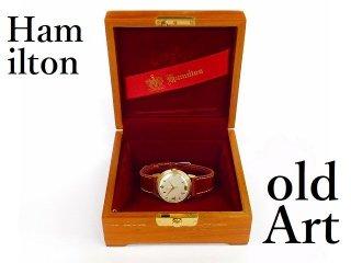 木箱付き1958年代HAMILTONハミルトンフリーメイソンロッジ会員限定10KGF手巻き式ヴィンテージ金張り腕時計【M-12198】