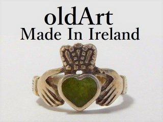 アイルランド製伝統的な指輪クラダリングスターリングシルバー製6.5号ホールマーク刻印【M-12247】