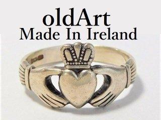 アイルランド製伝統的な指輪クラダリングスターリングシルバー14.5号ホールマーク刻印【M-12246】