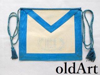 1940年代当時物USA製ヴィンテージフリーメイソンロッジオフィシャル正装儀式用具エプロン前掛け【M-12266】