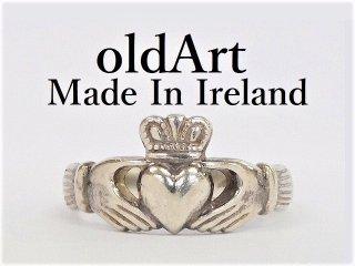 アイルランド製SOLVAR社伝統的な指輪クラダリングスターリングシルバー18号ホールマーク刻印【M-12278】
