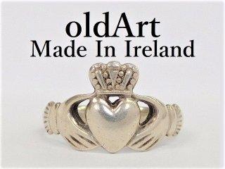 アイルランド製F.N.M伝統的な指輪クラダリングスターリングシルバー14.5号ホールマーク刻印【M-12281】