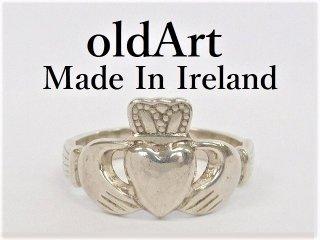 アイルランド製J.M.H伝統的な指輪クラダリングスターリングシルバー12号ホールマーク刻印【M-12279】