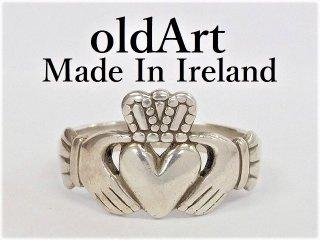 アイルランド製O.C.Ltd伝統的な指輪クラダリングスターリングシルバーメンズ25号ホールマーク刻印【M-12280】