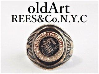 1968年代ヴィンテージREES&Co.N.Y.C社製STERLINGシルバー製メンズカレッジリング指輪15.5号【M-12355】