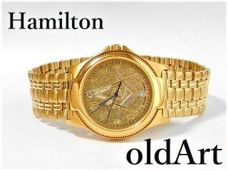 1970年代フリーメイソン会員限定ハミルトンHAMILTONダイヤモンド装飾クォーツ式メンズウォッチ腕時計【M-12376】