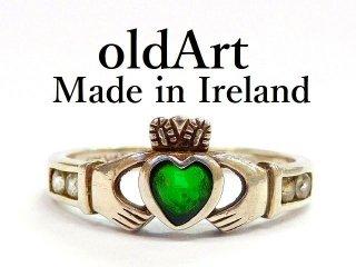 アイルランド製SOLVAR社伝統的な指輪クラダリングスターリングシルバー製14号ホールマーク刻印【M-12398】