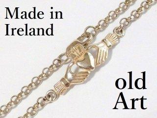 アイルランド製伝統的Claddaghクラダアンクレット/ブレスレットスターリングシルバー製【M-12447】