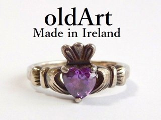 アイルランド製SOLVAR社伝統的な指輪クラダリングスターリングシルバー製16号ホールマーク刻印【M-12446】