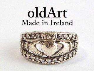 アイルランド製SOLVAR社伝統的な指輪クラダリングスターリングシルバー製9.5号ホールマーク刻印【M-12443】