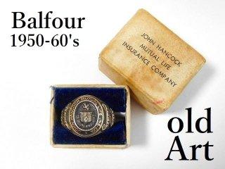 1950-60年代ビンテージBALFOUR社製JOHN HACOCKオフィシャルSTERLINGシルバー製リング指輪21号【M-12473】