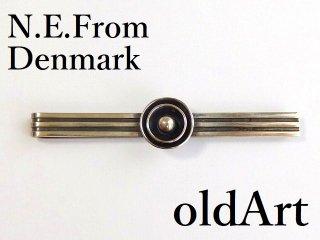 ヴィンテージ北欧デンマーク製N.E.From1950-60年代STERLINGシルバー銀製タイピンマネークリップ【M-12496】