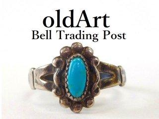 ヴィンテージ1950年代BELL TRADING POSTベルトレーディング社製ナバホインディアンターコイズシルバーリング指輪11.5号【M-12530】