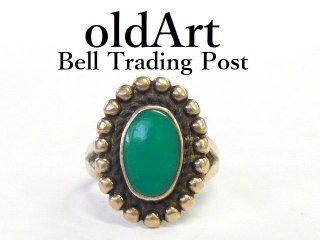 ヴィンテージ1950年代BELL TRADING POSTベルトレーディング社製ナバホインディアンターコイズシルバーリング指輪11号【M-12542】
