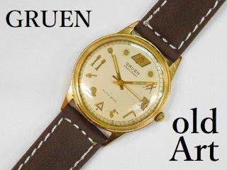 ヴィンテージフリーメイソンGRUENグリュエンPRECISION金張り自動巻きメンズウォッチ腕時計17石【M-12351】