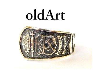 アンティークアメリカコロラド州STERLINGシルバー製スプーンリング指輪19号【M-12564】