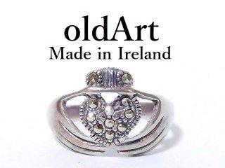 アイルランド製SOLVAR社伝統的な指輪クラダリングヘマタイトスターリングシルバー製11号【M-12565】