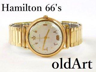 1966年代HAMILTONハミルトンフリーメイソン会員限定10KGF手巻き式ヴィンテージウォッチ金張り腕時計【M-12596】