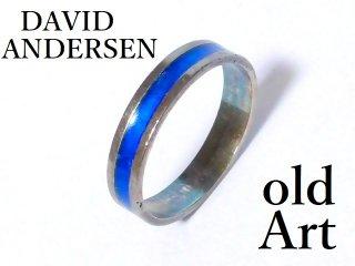 北欧ノルウェー製1940-50年代David Andersen七宝焼エナメル装飾シルバー銀製リング指輪14号【M-12624】