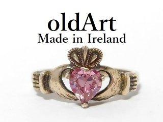 アイルランド製SOLVAR社伝統的な指輪クラダリングスターリングシルバー製12号ホールマーク刻印【M-12640】