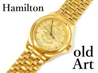ビンテージ1970年代フリーメイソン32階位ハミルトンHAMILTON会員限定ダイヤモンドクォーツ式メンズ腕時計【M-12611】