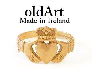アイルランド製J.P.K社伝統的な指輪クラダリング9金無垢17号ホールマーク9ctゴールド刻印【M-12684】