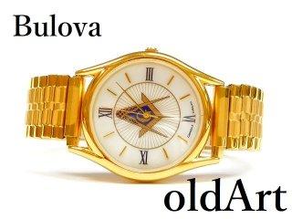 フリーメイソンオフィシャルBULOVAブローバCARAVELLEクォーツ式メンズ腕時計【M-12769】