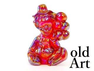1980年代アメリカBoyd Glassオールドボイドピエロアートガラス置物オブジェ/レッド【M-12828】