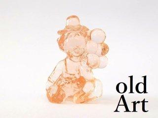 1980年代アメリカBoyd Glassオールドボイドピエロアートガラス置物オブジェ/ライトピンク【M-12830】